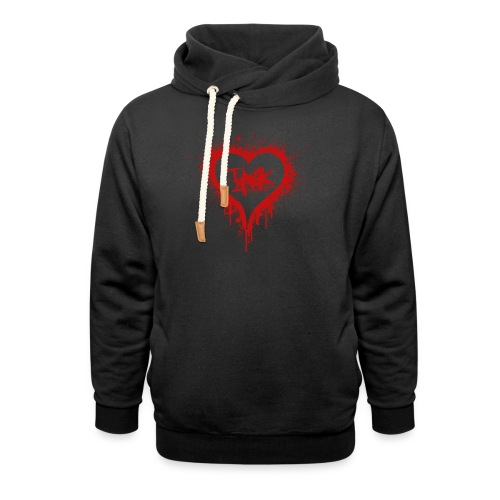 I Love Ink_red - Shawl Collar Hoodie