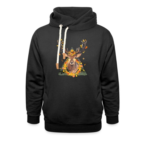 The Spirit of the Forest - Unisex Shawl Collar Hoodie