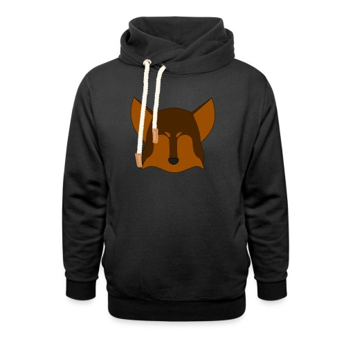 Simple Wolf Head - Shawl Collar Hoodie