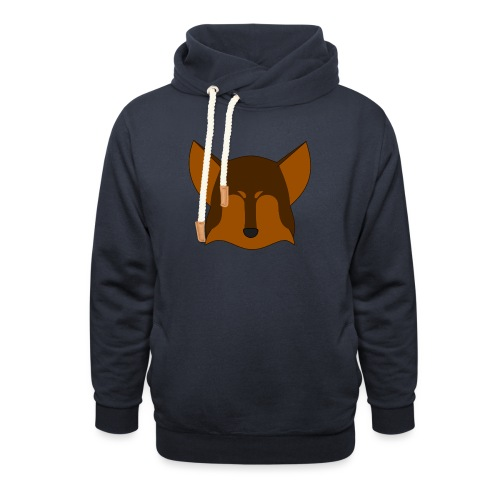 Simple Wolf Head - Shawl Collar Hoodie