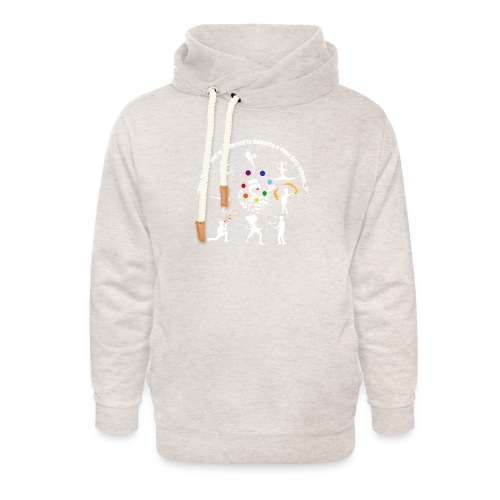 You Know You're Addicted to Hooping - White - Unisex Shawl Collar Hoodie