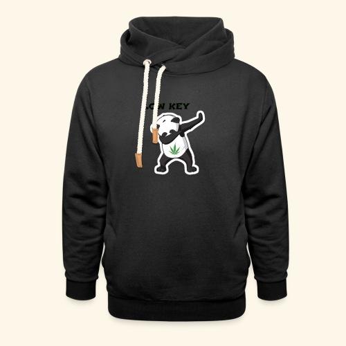 LOW KEY DAB BEAR - Shawl Collar Hoodie