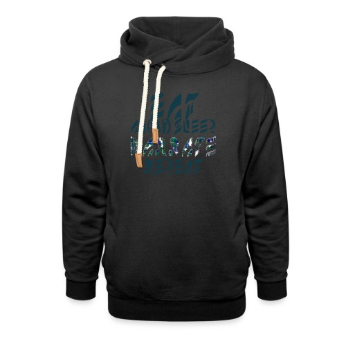Eat Sleep Narrate Repeat - Shawl Collar Hoodie