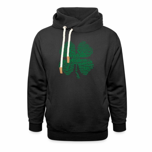 Shamrock Word Cloud - Shawl Collar Hoodie