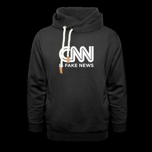 CNN Is Fake News - Shawl Collar Hoodie