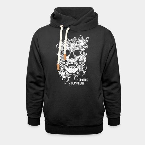 skull blasphemy deviant - Unisex Shawl Collar Hoodie