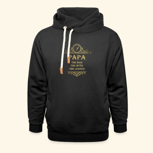 Papa the man the myth the legend - 2 - Unisex Shawl Collar Hoodie