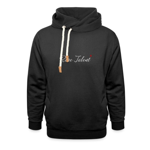 Rare Talent White Text - Unisex Shawl Collar Hoodie
