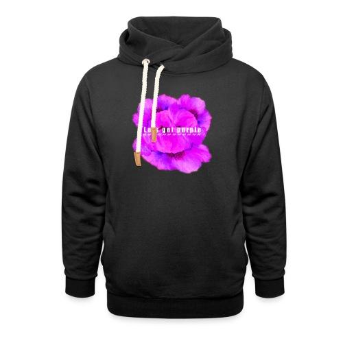 lets_get_purple_2 - Unisex Shawl Collar Hoodie