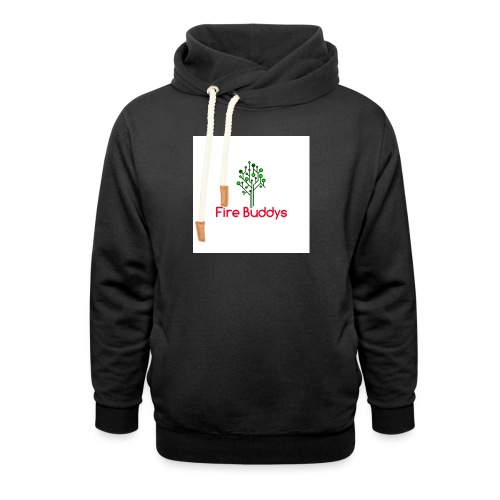 Fire Buddys Website Logo White Tee-shirt eco - Unisex Shawl Collar Hoodie