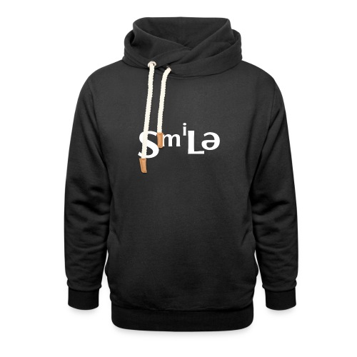 Smile Abstract Design - Shawl Collar Hoodie