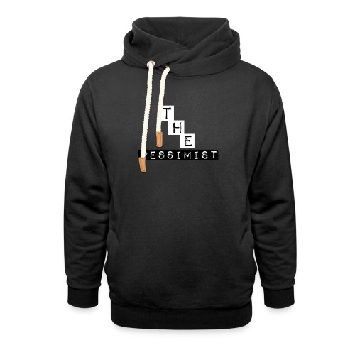 The Pessimist Abstract Design - Shawl Collar Hoodie