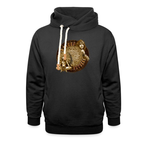 Raices Aztecas by RollinLow - Shawl Collar Hoodie