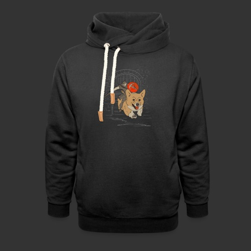 A Corgi Knight charges into battle - Unisex Shawl Collar Hoodie
