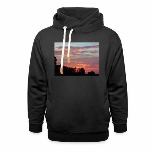 Sunset of Pastels - Shawl Collar Hoodie