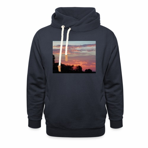 Sunset of Pastels - Shawl Collar Hoodie