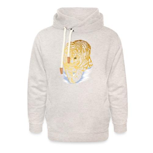Golden Snow Tiger - Unisex Shawl Collar Hoodie