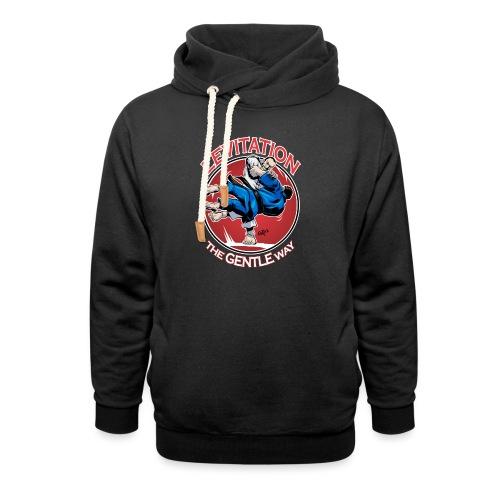 Judo Shirt - Levitation for dark shirt - Unisex Shawl Collar Hoodie