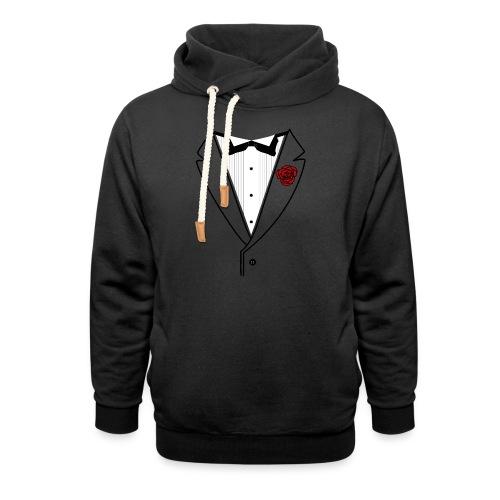 Tuxedo w/Black Lined Lapel - Shawl Collar Hoodie