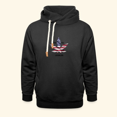 VOTE TO LEGALIZE - AMERICAN CANNABISLEAF SUPPORT - Shawl Collar Hoodie