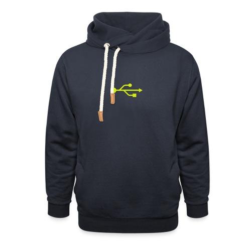 Yellow USB Logo Mid - Shawl Collar Hoodie
