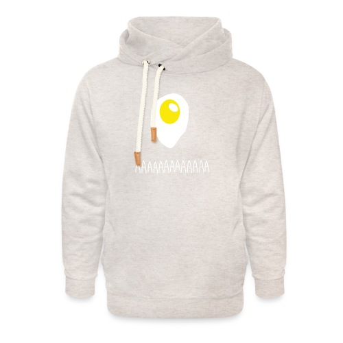 Existential Fried Egg - Unisex Shawl Collar Hoodie