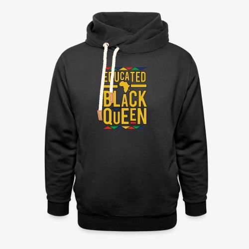 Dashiki Educated BLACK Queen - Shawl Collar Hoodie