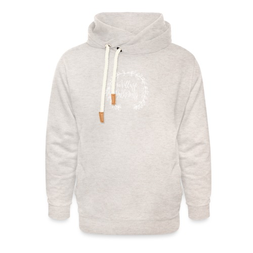The Village Gathering // White Logo - Unisex Shawl Collar Hoodie
