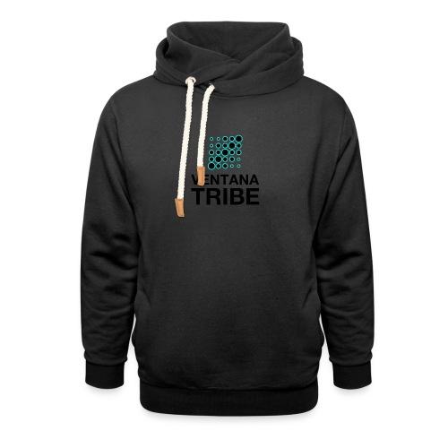 Ventana Tribe Black Logo - Shawl Collar Hoodie