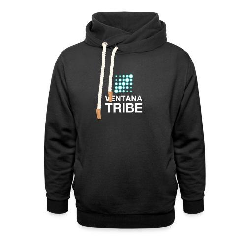 Ventana Tribe White Logo - Shawl Collar Hoodie