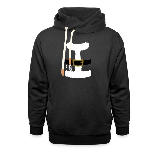 SANTA CLAUS SUIT - Men's Polo Shirt - Unisex Shawl Collar Hoodie