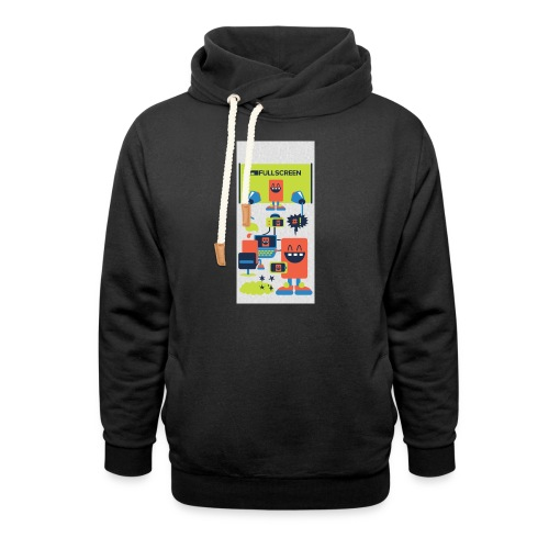 iphone5screenbots - Shawl Collar Hoodie