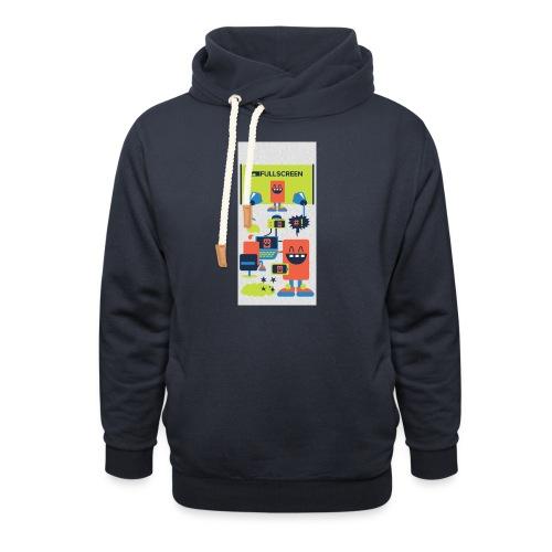 iphone5screenbots - Shawl Collar Hoodie