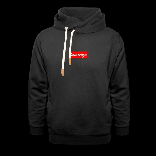 Average Supreme Logo Mockup - Shawl Collar Hoodie
