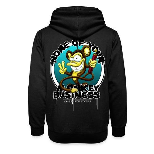 no monkey busin - Shawl Collar Hoodie