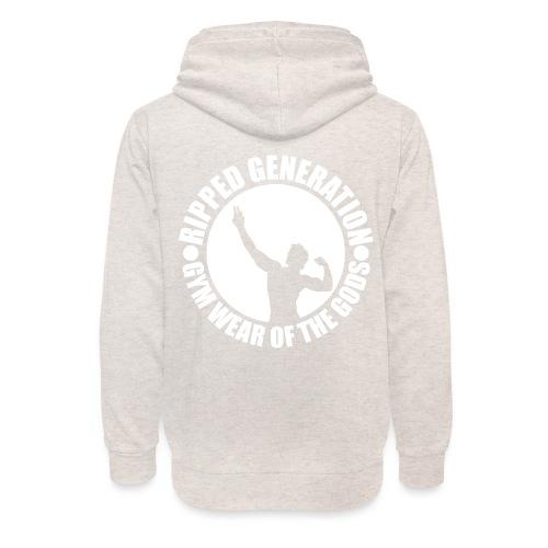 Ripped Generation Gym Wear of the Gods Badge Logo - Unisex Shawl Collar Hoodie
