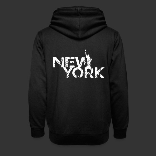 New York (Flexi Print) - Shawl Collar Hoodie