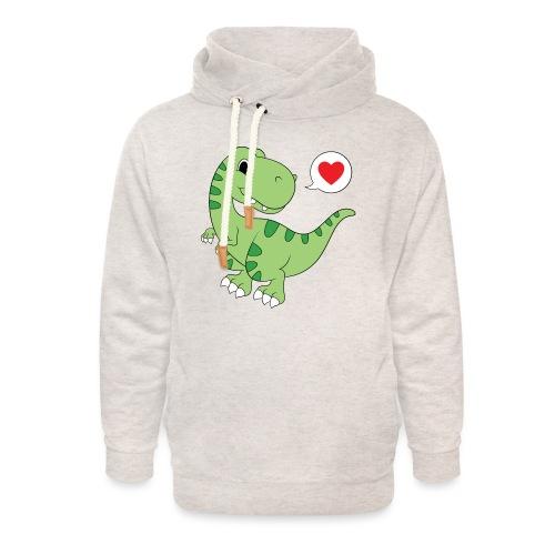 Dinosaur Love - Unisex Shawl Collar Hoodie