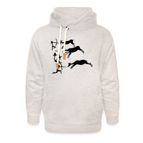 Lascaux Cave Painting - Unisex Shawl Collar Hoodie
