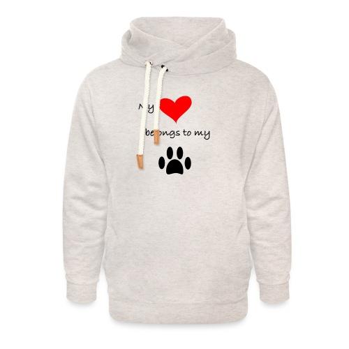 Dog Lovers shirt - My Heart Belongs to my Dog - Unisex Shawl Collar Hoodie