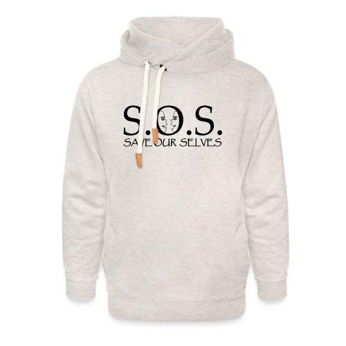 SOS Black on Black - Unisex Shawl Collar Hoodie