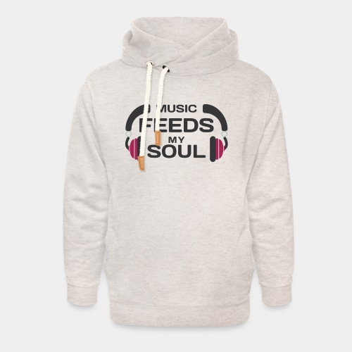music feeds my soul - Unisex Shawl Collar Hoodie