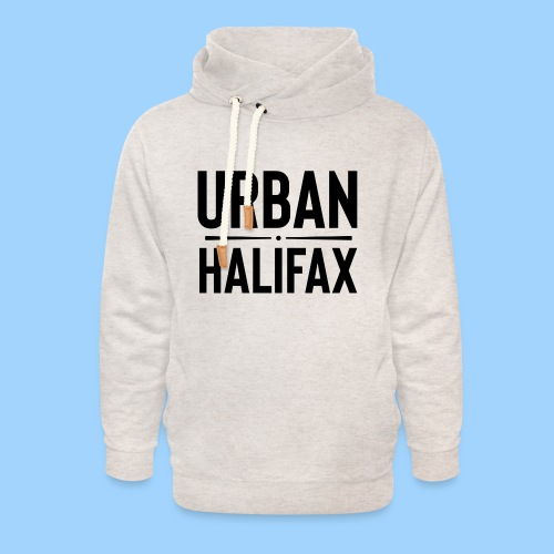 Urban Halifax logo (Black) - Unisex Shawl Collar Hoodie