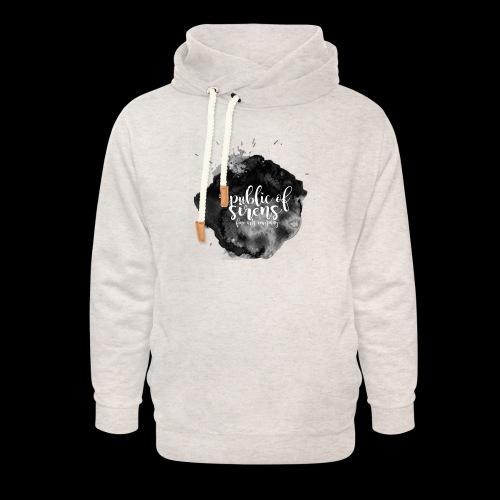 ROS FINE ARTS COMPANY - Black Aqua - Unisex Shawl Collar Hoodie