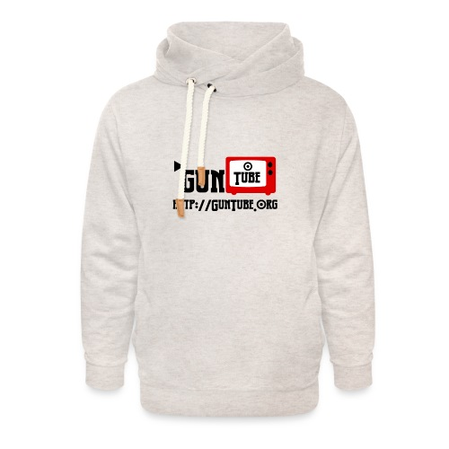 GunTube Shirt with URL - Unisex Shawl Collar Hoodie