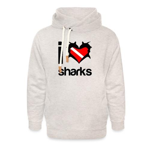 I Love Sharks - Unisex Shawl Collar Hoodie