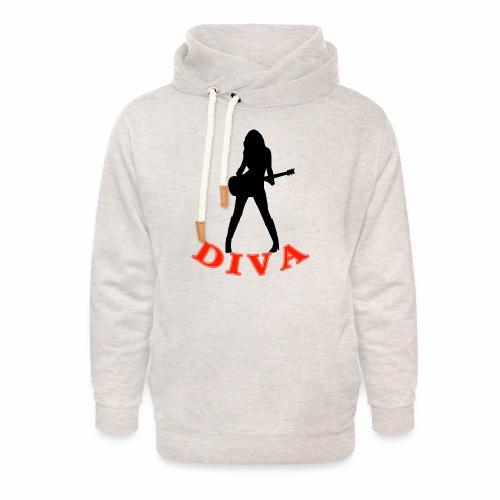 Rock Star Diva - Unisex Shawl Collar Hoodie