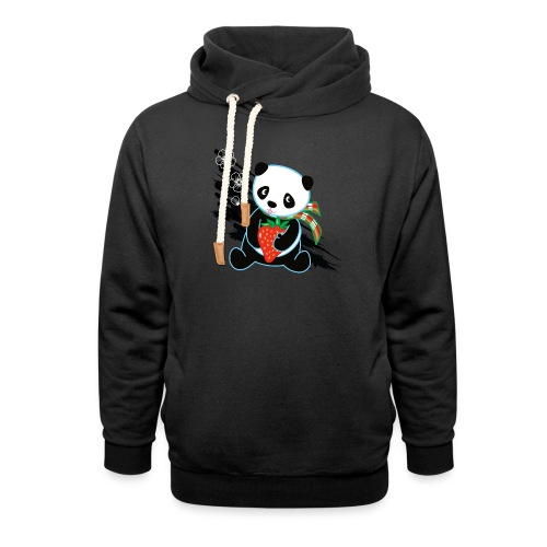 Cute Kawaii Panda T-shirt by Banzai Chicks - Unisex Shawl Collar Hoodie