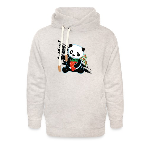 Cute Kawaii Panda T-shirt by Banzai Chicks - Unisex Shawl Collar Hoodie