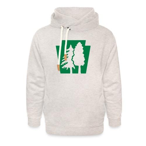 PA Keystone w/trees - Unisex Shawl Collar Hoodie